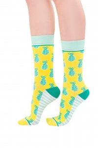 Image of Pineapple Whip : Woven Pear Socks