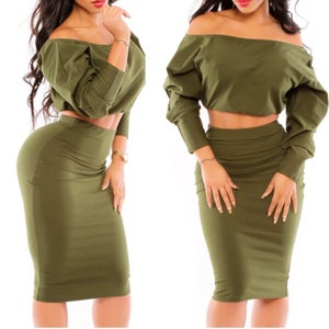 Image of Porsha Green Fashion Set