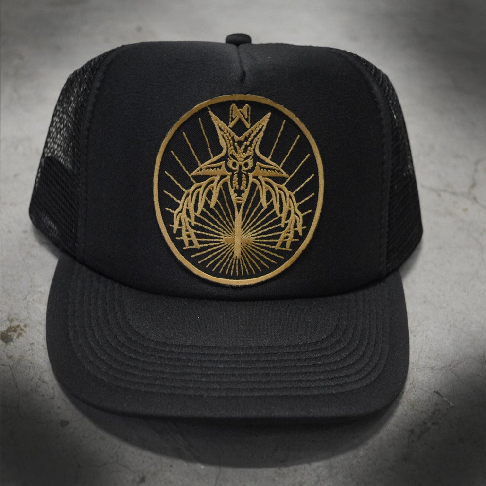 Image of EVIL MASTER HAT - BLACK/YELLOW