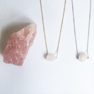 Image of Rose Quartz Nugget Necklace - for love SOLD OUT