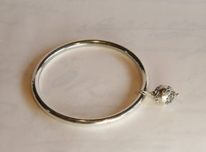 Image of Sterling Silver Bangle with Bauble