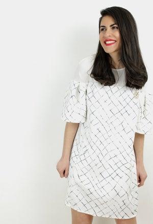 Image of CHECK PRINT MINI DRESS