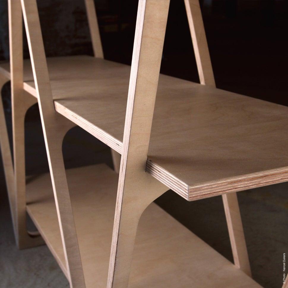 Console w wood by silex mobilier en bois design et for Meuble en contreplaque
