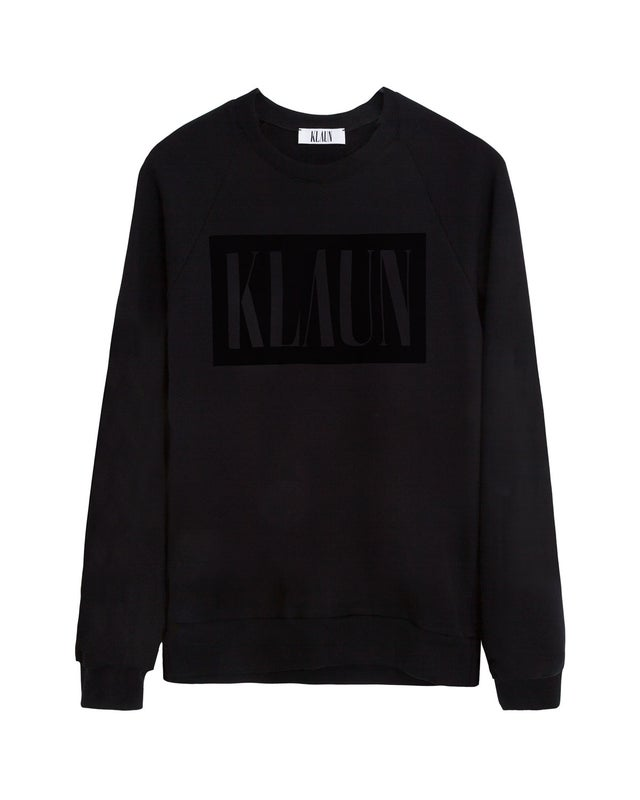 Image of Logo Sweatshirt Black on Black
