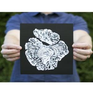 Image of Giclee Stump Print <br><i>Monarch White on Black</i>