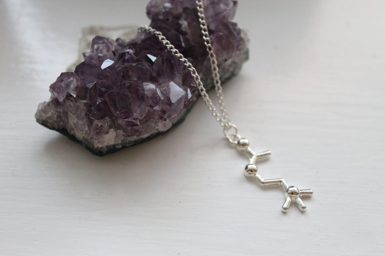 Image of Acetylcholine Molecule Necklace (Originally $32)