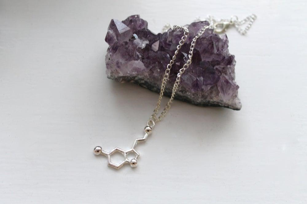 Image of Serotonin Molecule Necklace (Originally $32)