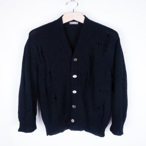 Image of Comme des Garcons Homme - Destroyed Wool Cardigan