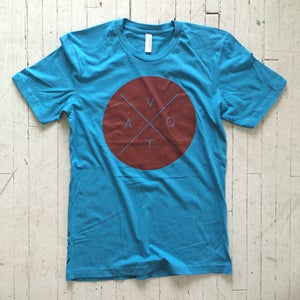 Image of VOTA Circle T Shirt - Blue with Red