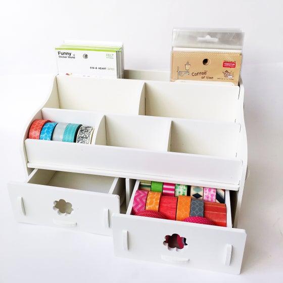 Image of DIY White Desktop Organizer *FREE SHIPPING*