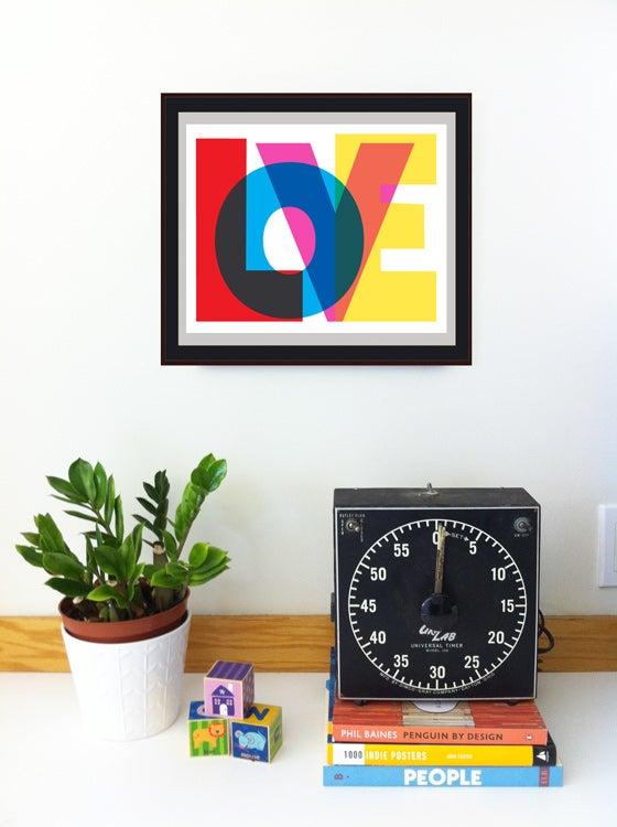 Image of LOVE Typography Print