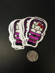 Image of 5 Hello Kitty with boobs stickers...