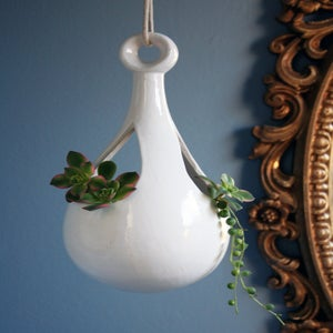 Image of Mid Century Modern Bird House or Hanging Planter