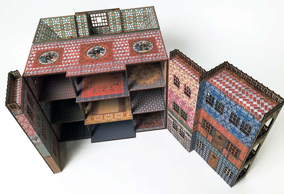 Image of Hestia's House: a wooden quarter scale dollhouse
