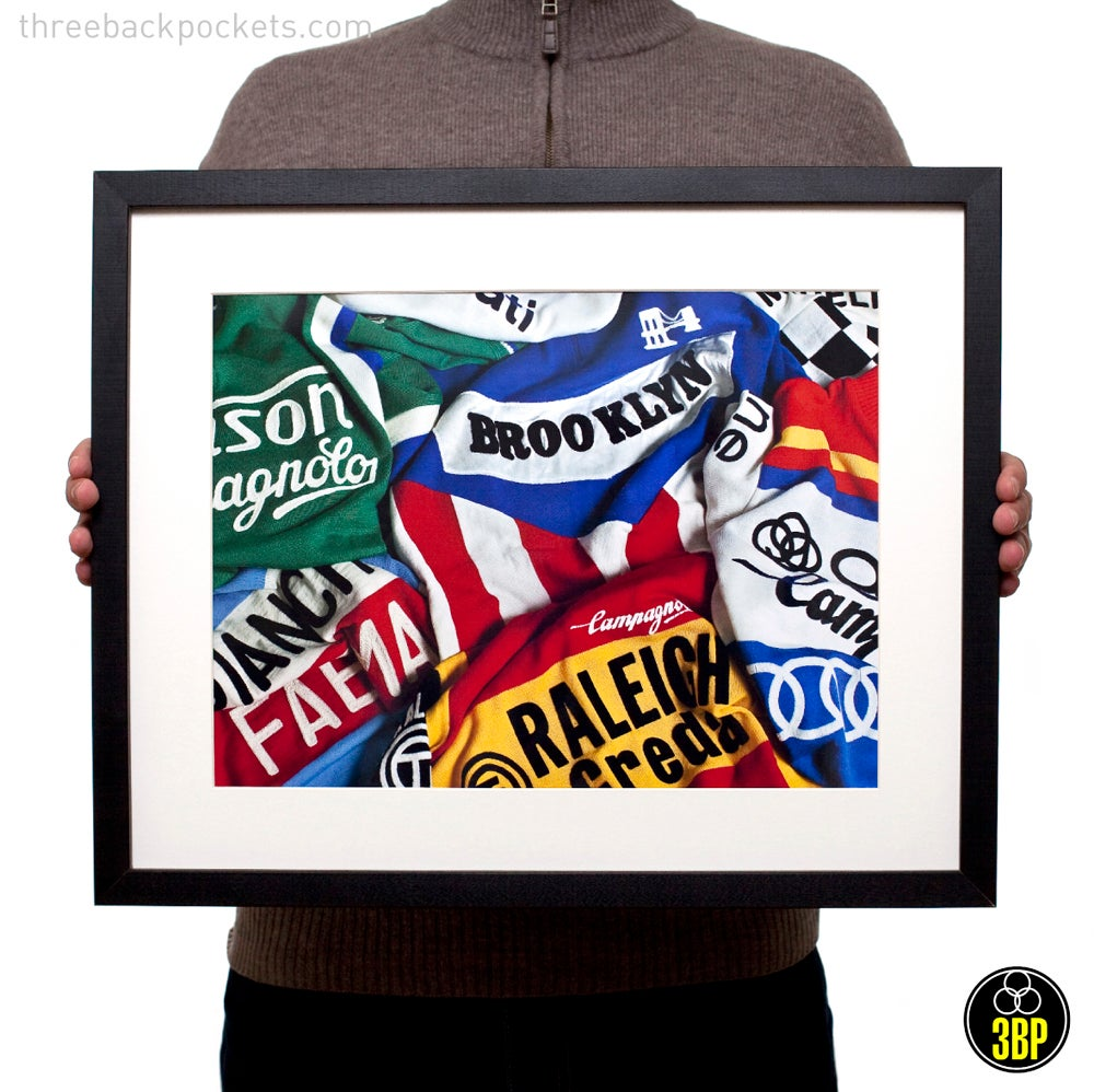 Image of Iconic cycling jerseys print