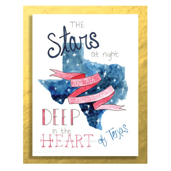 Image of Texas Art Print: The Stars at Night are Big and Bright