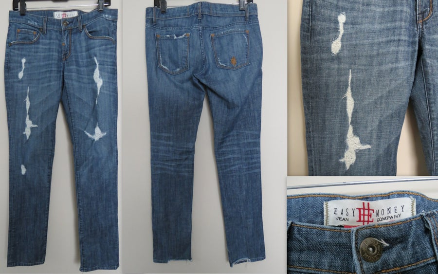 Image of Easy Money Sterling Straight Distressed Jeans