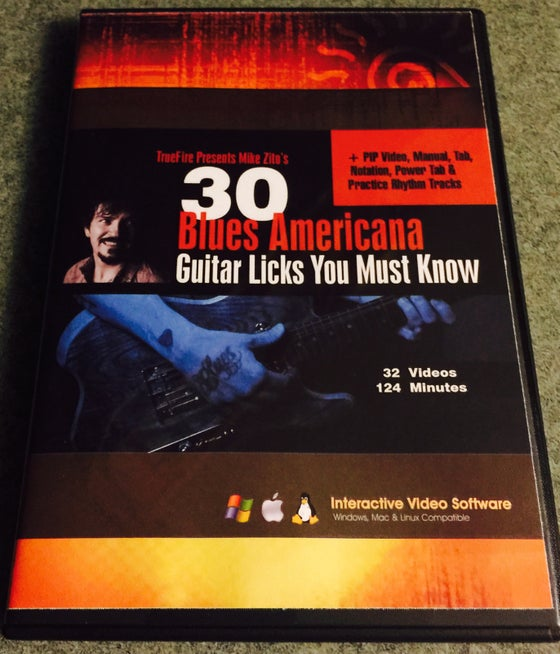 Image of Truefire 30 Blues Americana Licks Course