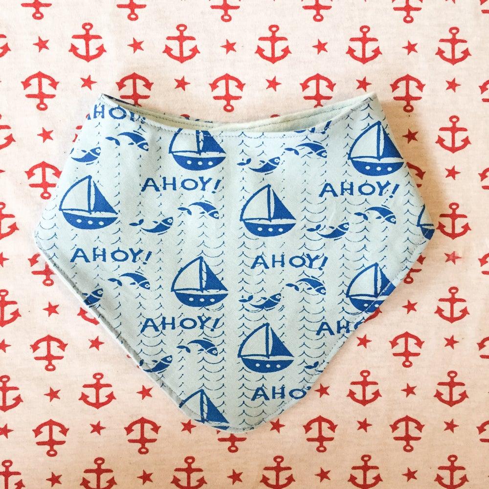 Image of Nautical Neckerchief- Ahoy print