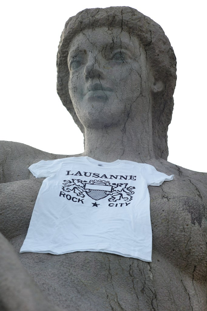 "Image of T-shirt ""Lausanne Rock City"" / Blanc"