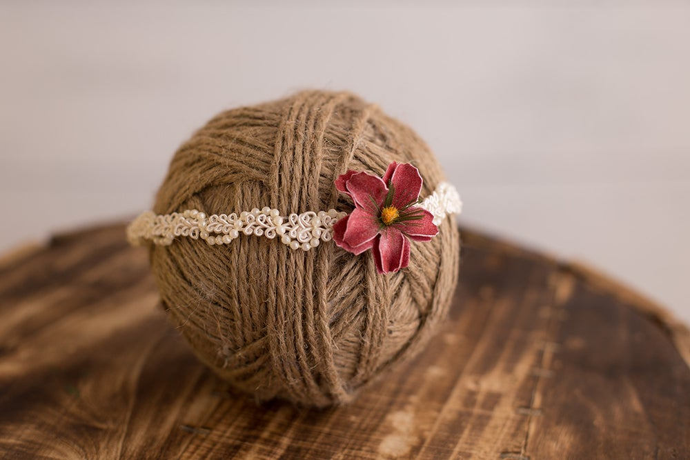 Image of Pink Flower Headband