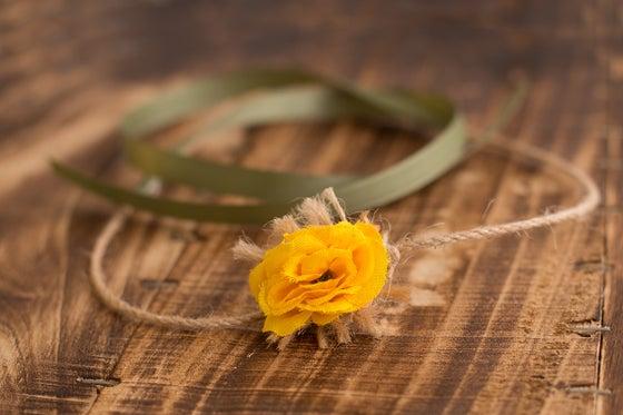 Image of Yellow Flower tieback