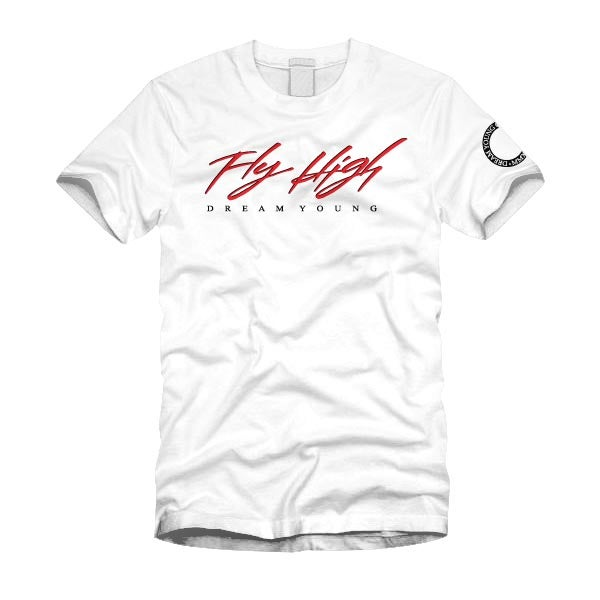 "Image of ""FLY HIGH"" White/Tee"