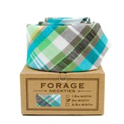 Image of teal plaid {necktie}