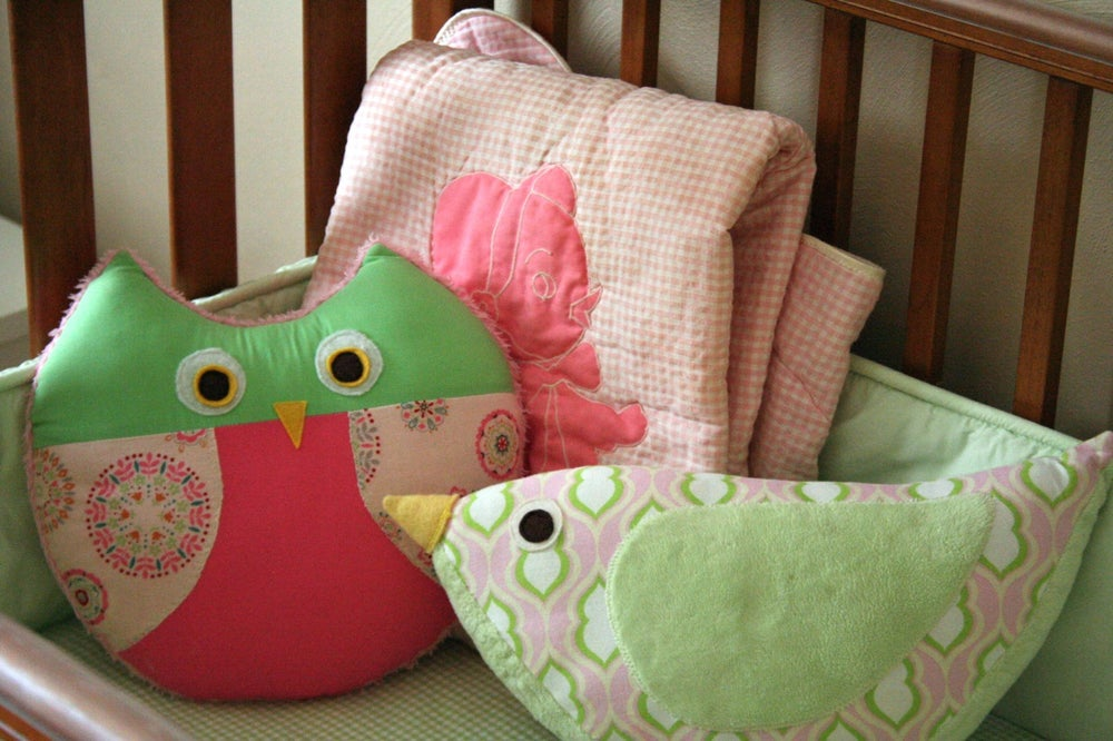 Image of Katie Bird Pillow PDF Sewing Pattern