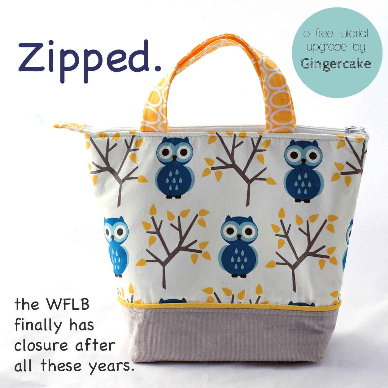 The Waste Free Lunch Bag Pdf Sewing Pattern Gingercake