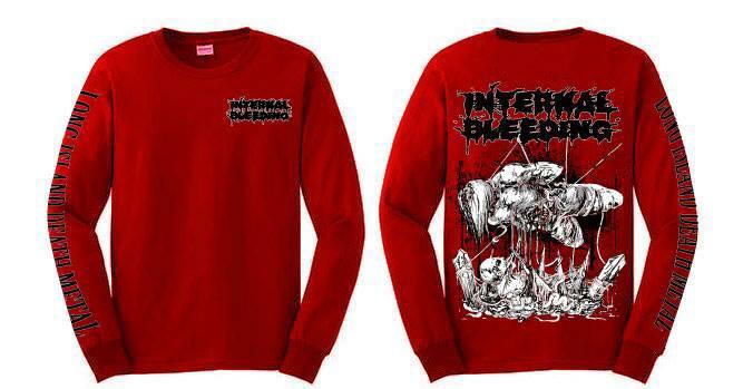 Image of Internal Bleeding - Long Island Death Metal Red Longsleeve
