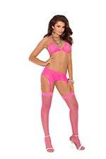 Image of 2 peice pink lingerie set