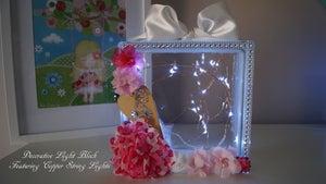 "Image of Decorative Light Blocks - ""Wooden Heart"""
