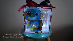 "Image of Decorative Light Block - ""Robots"""