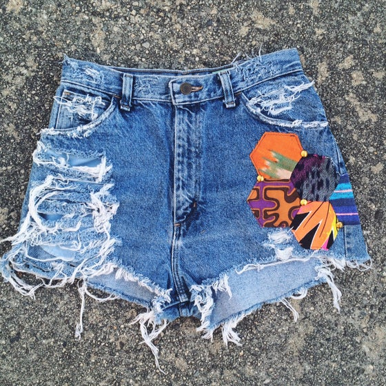 Image of Valley Festival Shorts - Faded Denim -
