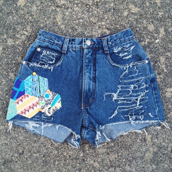 Image of Valley Festival Shorts - Blue Denim -