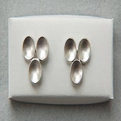 Image of earrings, sterling silver