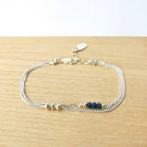 Image of Bracelet Twin Indigo