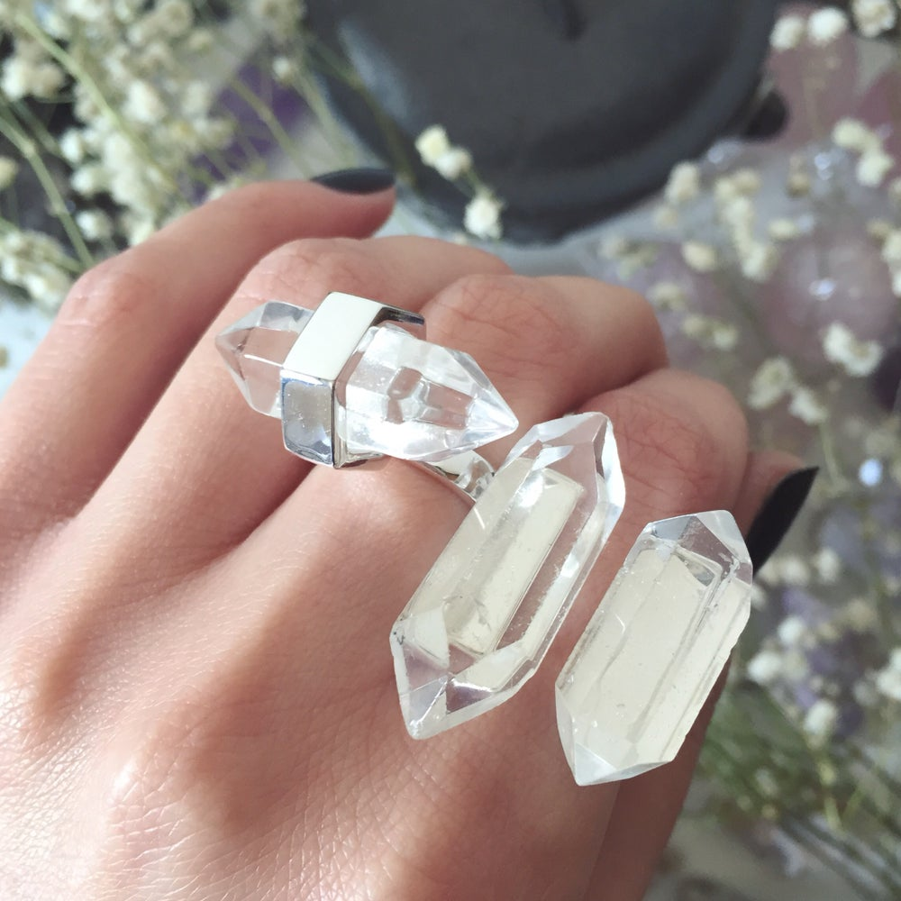 Image of Clear Quartz Rings