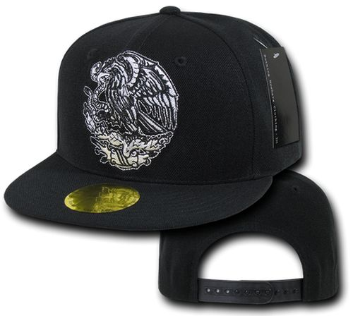 Image of Mexico Flat Bill Eagle Snapback / Adjustable Hat Cap