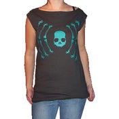 Image of Large Skull Turquoise T-Dress