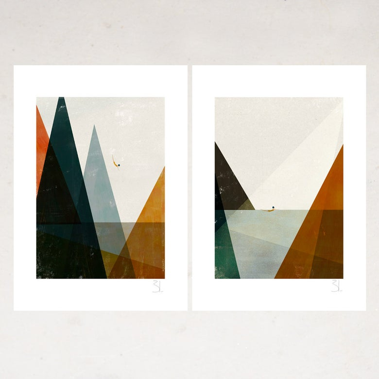 Image of Nadadora Set of Two Prints