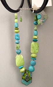 Image of Magnicite, turquoise, agate set