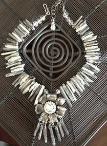 Image of Titanium crystal and pewter set