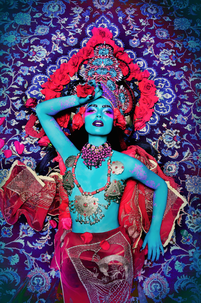 "Image of 13x19 Poster print ""Deva Red"""