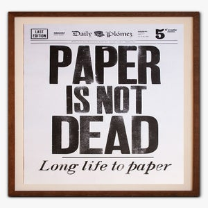 Image of Paper is not dead