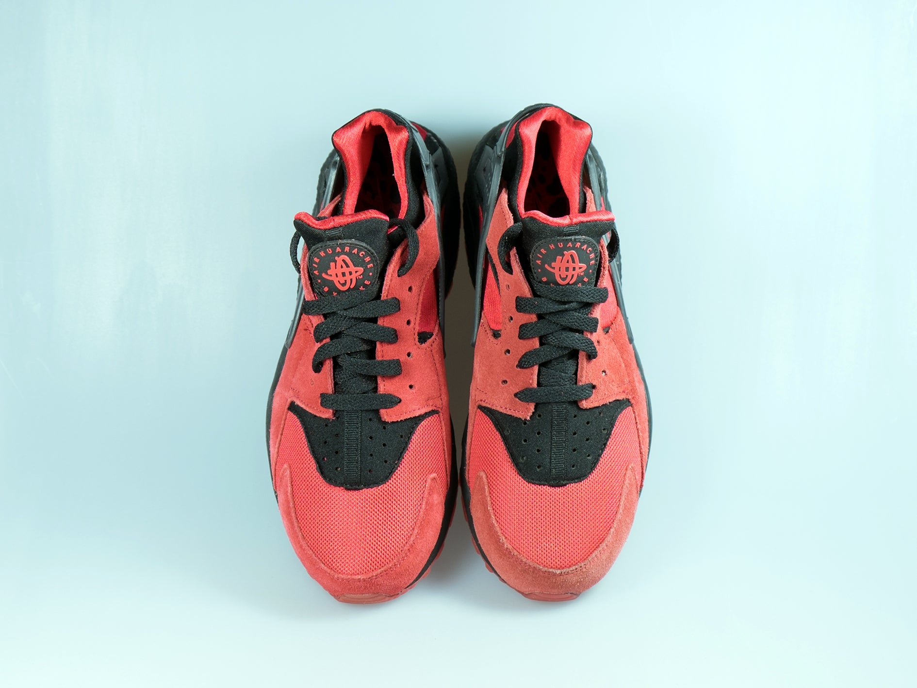 Buy Discount Nike Air Huarache University Red Black 700878 600