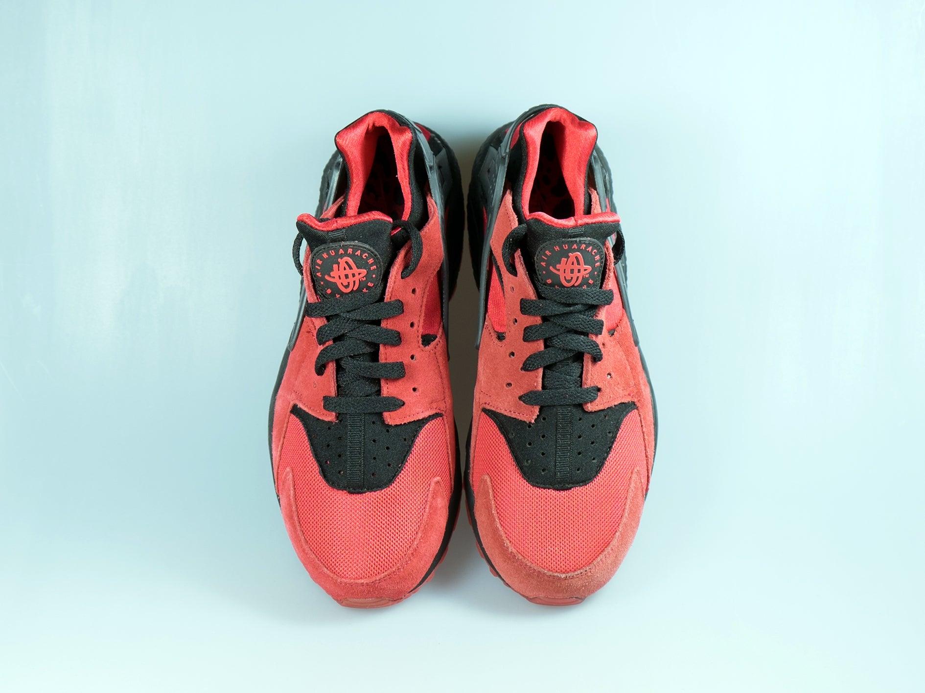Buy Discount Nike Air Huarache University Red Black 700878 600