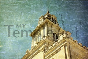 Image of Manti Utah LDS Mormon Temple Art 002 - Personalized LDS Temple Art
