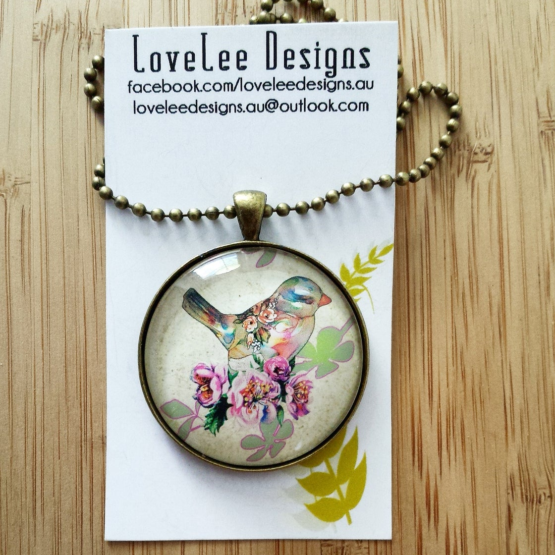 Image of 1.5inch pendant - LIMITED EDITION Vintage bird #2
